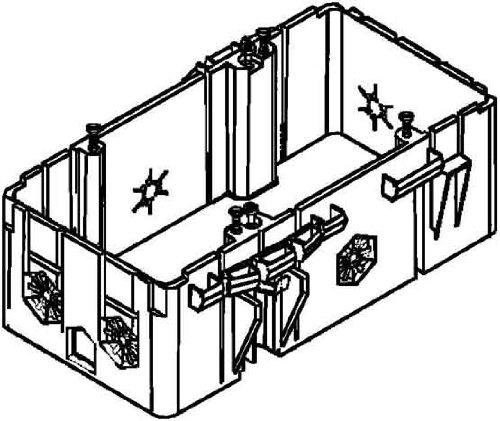 Niedax dubbele doos GDHR 50-2 inbouwdoos voor apparaatinbouwkanaal 4013339460380