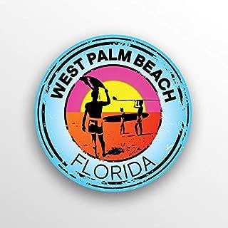 JMM Industries West Palm Beach Florida Vinyl Decal Sticker Car Window Bumper 2-Pack 3-Inch Round Premium Quality UV Protective Laminate PDS1513