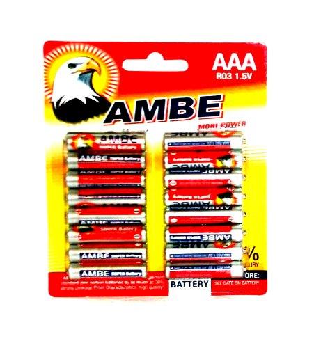 64 x R6 1.5V MIGNON Ambe AAA BATTERIEN LR6 R6P Einweg Batterie Carbon R03 Battery