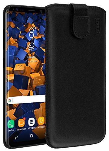 mumbi Echt Ledertasche kompatibel mit Samsung Galaxy S8+ Hülle Leder Tasche Hülle Wallet, schwarz