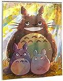 My Neighbor Totoro Duschvorhang Badezimmer Dekor Exquisite Schimmelresistent Wasserdicht Extra Lang Badvorhang mit 12 Haken