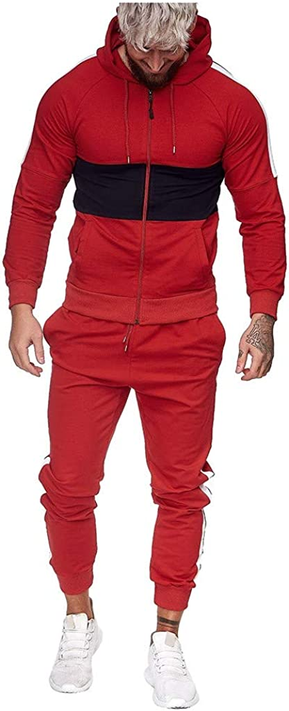 Tracksuit for Men Set 2 Piece Outfit Set Athletic Tracksuit Set Full Zip Casual Jogging Workout Hoodies Bodybuilding