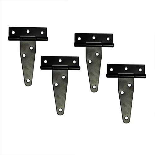 One High Quality Black Backflap Hinges Heavy Duty Strap Tee Gate Shed Door Box