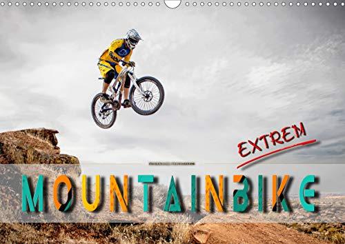 Mountainbike extrem (Wandkalender 2021 DIN A3 quer)