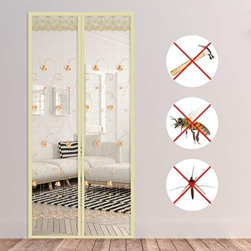 Matogle Mosquitera magnética Mosquitera Puerta Cortina de malla Anti mosquitos Insecto a prueba de moscas Mantiene los insectos fuera de la puerta para sala de estar Dormitorio