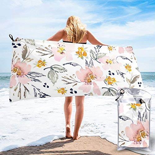 hotspu Microfibre Cooling Towel, Cooling Sports Towel For Travel, Beach, Gym, Camping, Swimming, Yoga, Uko Watercolour Tile Saturated White - Quick Dry, Lightweight