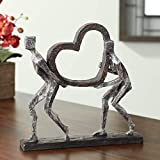 The Weight of Love 12' High Figurines and Heart...