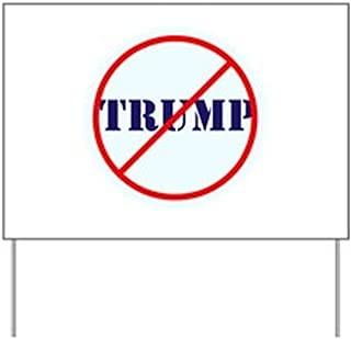 E&M Designs Anti Trump, No TrumpYard Sign, Vinyl Lawn Sign, Political Election Sign
