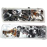 For Lincoln Town Car Headlight Assembly 1995 1996 1997 Pair Driver and Passenger Side