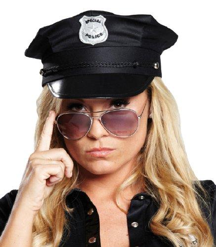 Accessoires de déguisement de policier pour le bonnet de police noir