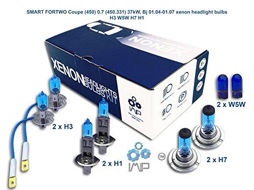 Ampoules de phares xénon lumineux| DIY, Kit simple d'utilisation | Compatible H3 H7 H1 Plus ampoules éclairage latéral gratuites W5W