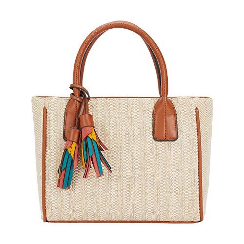 Parfois - Taschen Handtasche Stoff Einfarbig Beige - Damen - Größe M - Beige