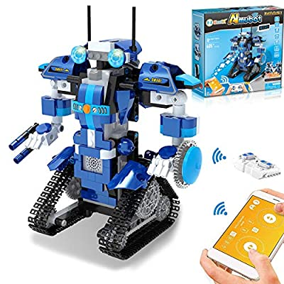 NextX STEM Projects for Kids Remote & APP Controlled Coding Gear Robotics Kit Compatible with Lego Robot Science Kit Birthday Gift Children Bots Hands-on Exercise Brain Activity Toys for Boys Girls
