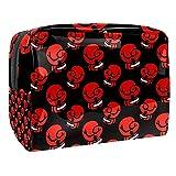 Kit de Maquillaje Guantes de Boxeo Rojos Neceser Makeup Bolso de Cosméticos Portable Organizador Maletín para Maquillaje Maleta de Makeup Profesional 18.5x7.5x13cm