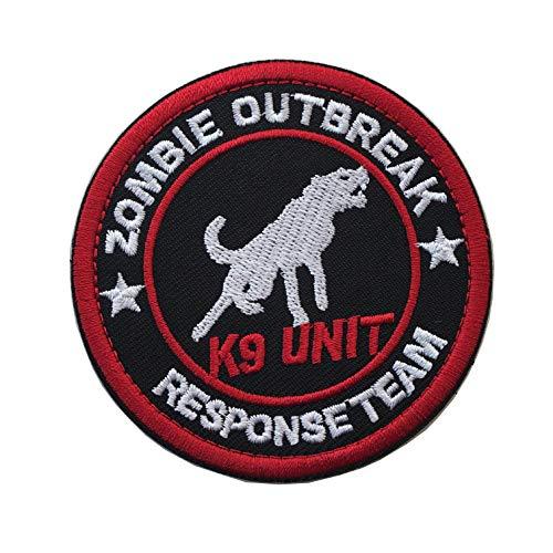 Zombie Outbreak Response Team K9 Unit Vests/Harnesses Service Dog Emblem Embroidered Hook & Loop Fastener Patch (B-K9 Unit)