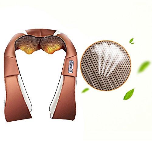 Vinteky massageapparaat voor nek en schouders, basic, shiatsu-massageapparaat met 4D-rotatie en warmtefunctie voor ontspanning van vermoeidheid thuis, op kantoor of in de auto (koffie)