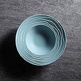 Jkckha. Ceramica paglia Ins Posate Prima colazione semplice occidentale posate Piatto Fondo 9'