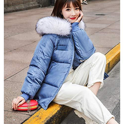 KOUPNLTM Manteau en Coton À Capuche pour Femme Hiver Vogue Casual Vestes en Coton Chaud Manteau pour Femme Parkas XXL Bleu