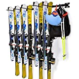 Ski Snowboard Wall Storage Rack | Holds 10 Pairs | Ski Wall...
