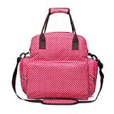 LYNN Wickelrucksack, große Kapazität, Babytasche, Multifunktions-Reiserucksack, Wickeltasche, Stilltasche, wasserdicht rot