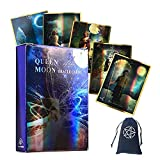 Reina De La Luna Tarjetas De Oracle Tarjetas Láser con Bolsa De Terciopelo,Queen of Moon Oracle Cards