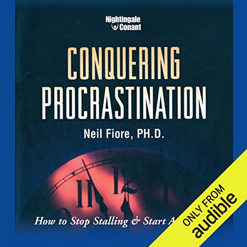 Conquering Procrastination audiobook cover art