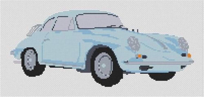 Stitchtastic Porsche 356 1961 Set – PaleBlau B01AI8HKUQ