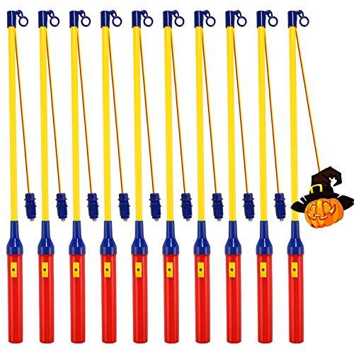 Laternenstab Elektrisch mit LED,10 Pack LED Elektronischer Laternenstab,Laternenstock mit LED für St Martin,Kinderpartys, Kindergarten,Halloween,Weihnachten,Laternenumzüge,Martinsumzüge,Kostümpartys