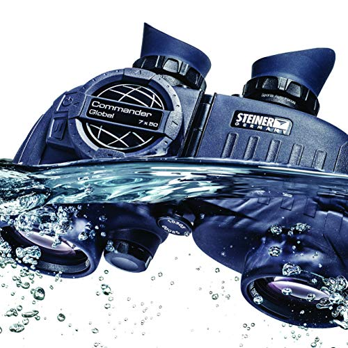Steiner Commander 7x50 marine binoculars with compass - Worldwide largest and most precise illuminated compass, 145 m field of view, water pressure proof up to 10m - For the highest ambitions on water
