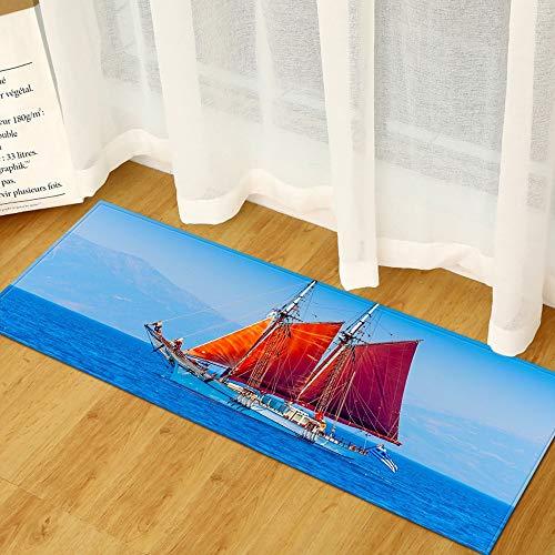 OPLJ Moderner Eingang Fußmatte Home Küchenteppich Wohnzimmer Schlafzimmer Flur Badematte 3D-gedrucktes Muster Kinderbodenteppich A3 50x160cm