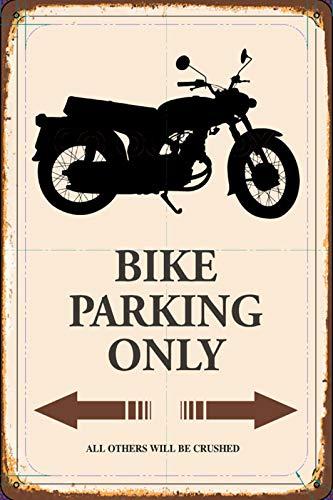 FS Bike Motorrad Parking only parkschild tin Sign Blechschild Schild gewölbt Metal Sign 20 x 30 cm