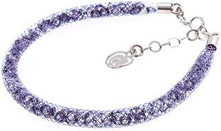 Bracciale Viola in Argento 925 con Cristalli Luminosi Collezione Tennis Colorazione : Viola Fumo 6F