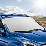 Tsumbay Windshield Sun Shade, Car Windshield Cover Window Shade Keep Cool, Durable 4-Layers