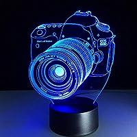 ノベルティ3DランプUSBカメライリュージョンRGBタッチLEDランプ7キッズギフト用可変カラーテーブルナイトデコレーション