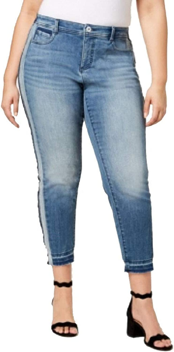 I.N.C. International Concepts Women's Plus Size SideStripe Skinny Jeans