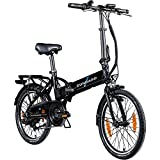 Zündapp Z101+ 20 Zoll E Bike Faltrad Damen Herren Elektrofahrrad klappbar Fahrrad Elektro Klapprad Ebike Pedelec E-Bike Erwachsene Klappfahrrad (schwarz/türkis, 37 cm)