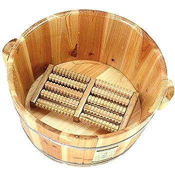 wooden foot bath bucket