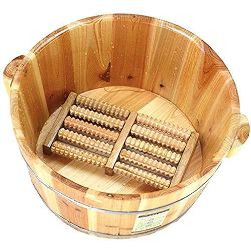 WY-Foot bath barrel Pediluvio in Legno massello Naturale Addensare pediluvio Secchio in Legno Vasca idromassaggio per Il Piede Dormire in casa, Migliorare