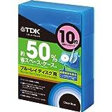 TDK Blu-ray用 省スペース収納ケース 10枚収納ブックタイプ クリアブルー CASE-BDB10BL1A