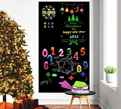 Magnetic Chalkboard Contact Paper for Wall 40 x 18 Adhesive Back Chalkboard Wallpaper Removable product image