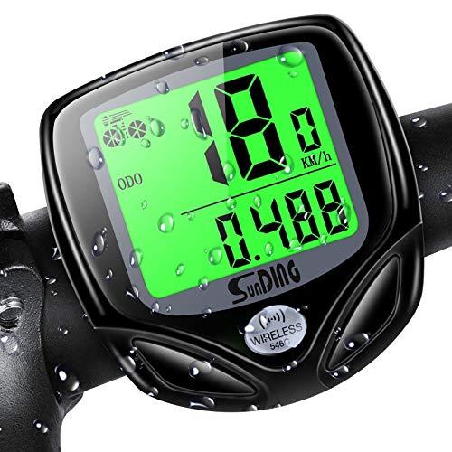 iKALULA Fahrradcomputer, Fahrradcomputer Kabellos 16 Funktionen Radcomputer wasserdichte LCD Geschwindigkeit Fahrradtacho Drahtloser Fahrrad Computer Tachometer für Radsport Realtime Speed Track
