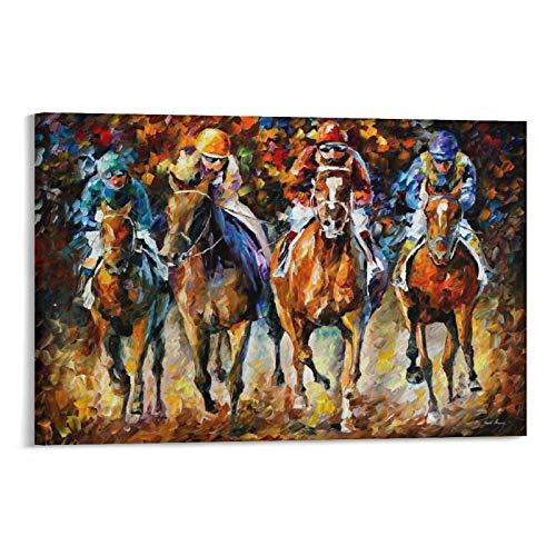 FRFK Leonid Afremov - Póster de carreras de caballos sobre lienzo, impresión de cuadro de desplazamiento para sala de estar, decoración de paredes para el hogar, 30 x 45 cm