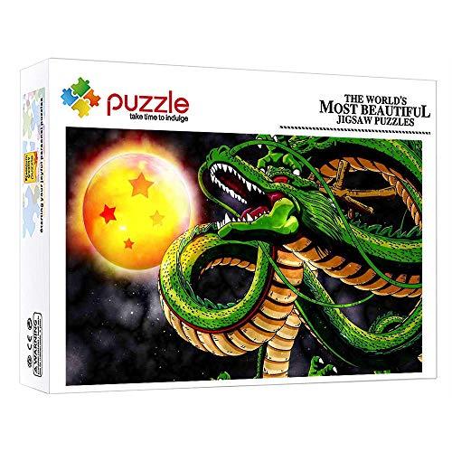 FFGHH Puzzle 1000 Piezas Adultos Rompecabezas Mini Puzzles Infantiles Rompecabezas Imposible para Adultos Amigo Niños Dragon Y Dragon Ball 14.96In X 10.23In