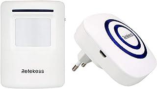 Retekess T801 Inalámbrico Timbre de Alarma para la Puerta con Sensor de Movimiento PIR Infrarrojo Detector