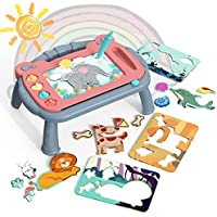 VIIPOO 2-in-1 Doodle Drawing Board Toy Puzzle Set
