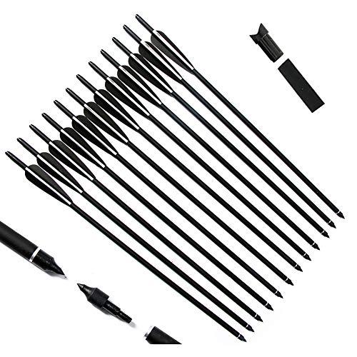 LJHLJH 12Pcs Crossbow Bolts Arrows 16 17' 18' 20' 22' Hunting Carbon Arrows...