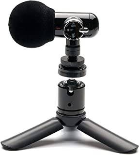 ORANGEMONKIE / Q-Mic (All-in-One ASMR Direct Omni 360° Microphone, 2 Tripod, 4 Cables, Phone Holder, Case) / Smartphone, D...