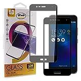 Guran [2 Paquete Protector de Pantalla para ASUS Zenfone 3 MAX ZC520TL Smartphone Cobertura Completa Protección 9H Dureza Alta Definicion Vidrio Templado Película - Negro