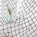 MIULEE 2er Set Sheer Vorhang Halbtransparente Dekorative Ösenvorhänge Gardine aus Voile Polyester Strich Durchwirken Lichtdurchlässig für Wohnzimmer Küche Cafeteria 140x175cm Schwarz