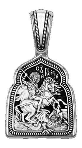 Medaille Heiliger Georges – Terassante der Drache Silber 925 DM74 (2)